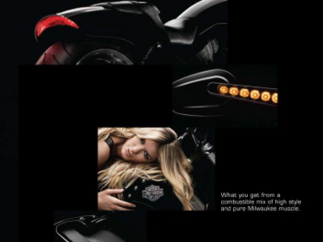 Marisa Miller reklamuje Harleya V-Rod Muscle