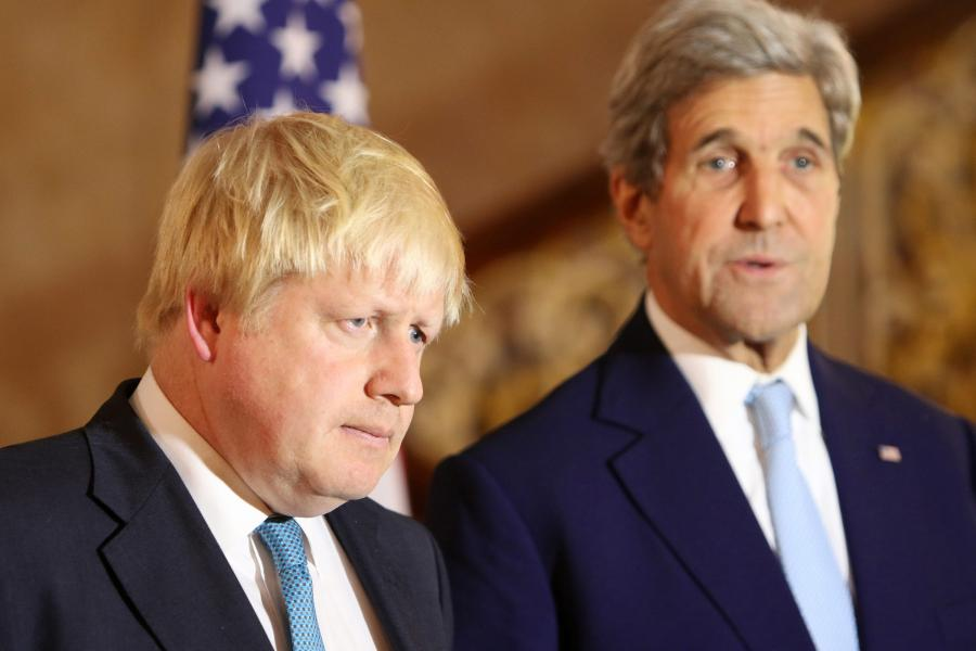 Boris Johnson i John Kerry