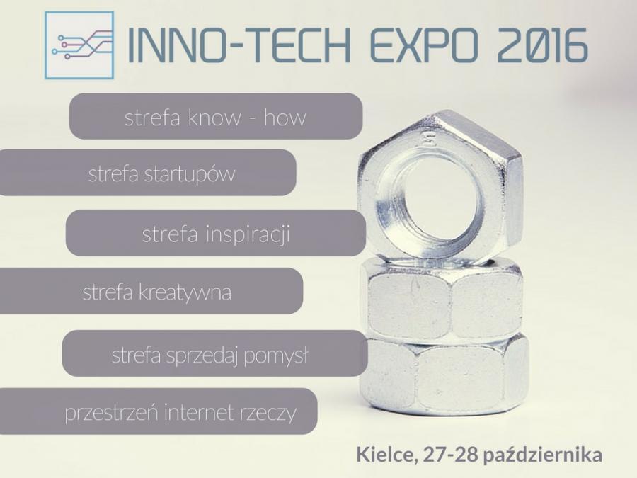 IV edycja Międzynarodowych Targów Innowacji i Nowych Technologii INNO-TECH EXPO 2016 w Kielcach