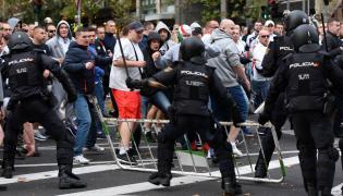 Zadyma kibiców Legii w Madrycie