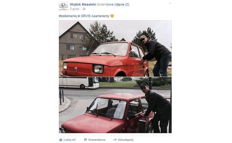 #belikehanks, czyli Wojtek Masalski i jego maluch oraz Tom Hanks z fiatem 126p