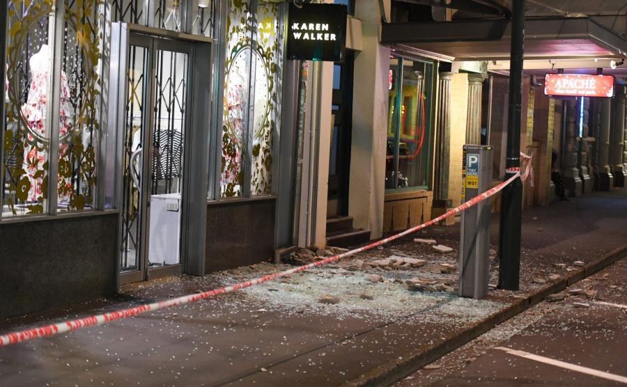 Trzęsienie ziemi w Nowej Zelandii. W stolicy kraju Wellington z okien powypadały szyby