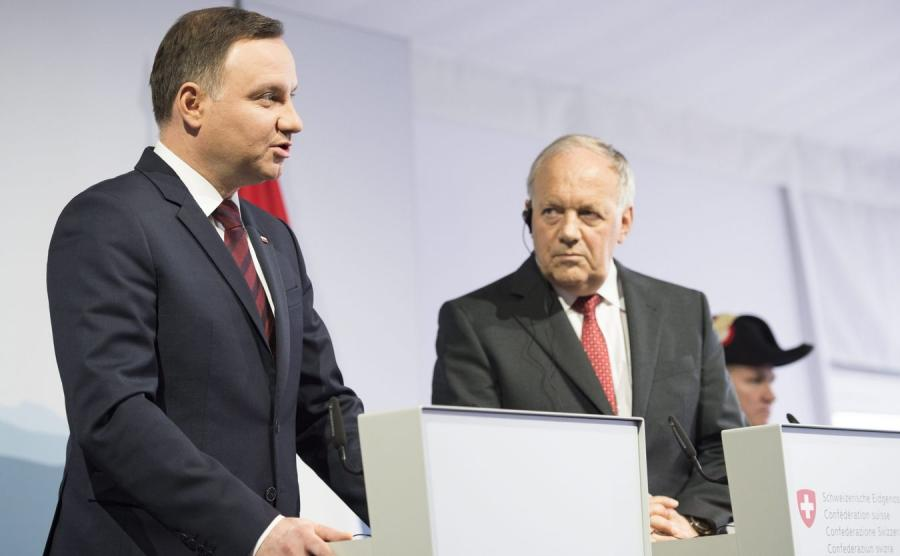 Andrzej Duda i Johann Schneider-Ammann