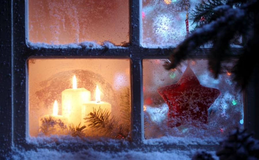 zima okno
