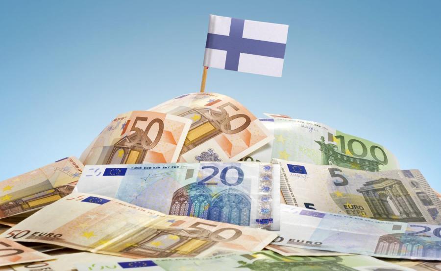 Euro i fińska flaga