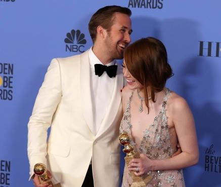 Emma Stone oraz Ryan Gosling ze Złotymi Globami za \