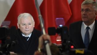 Jarosław Kaczyński i marszałek Senatu