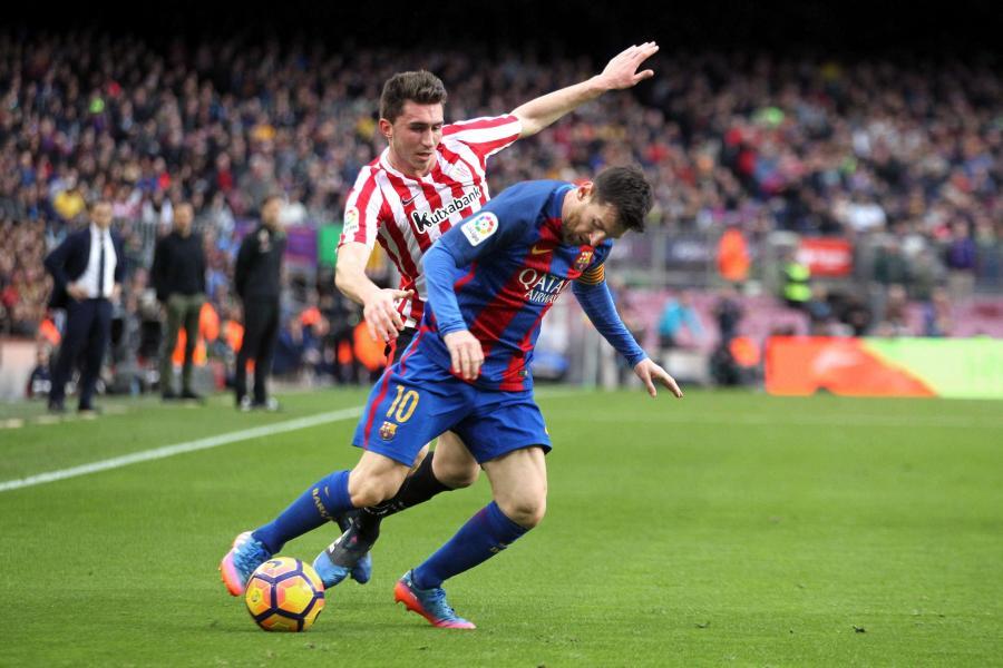 Lionel Messi i Aymeric Laporte