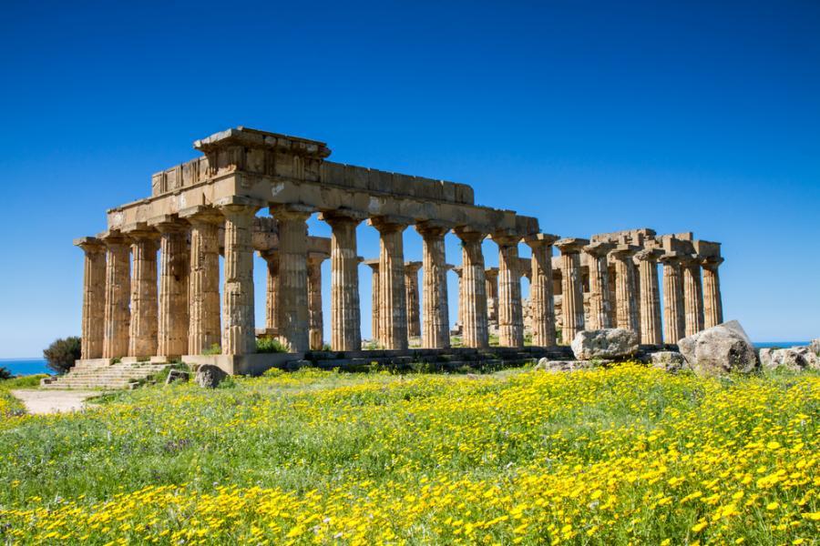 Starożytna grecka świątynia w Selinunte na Sycylii